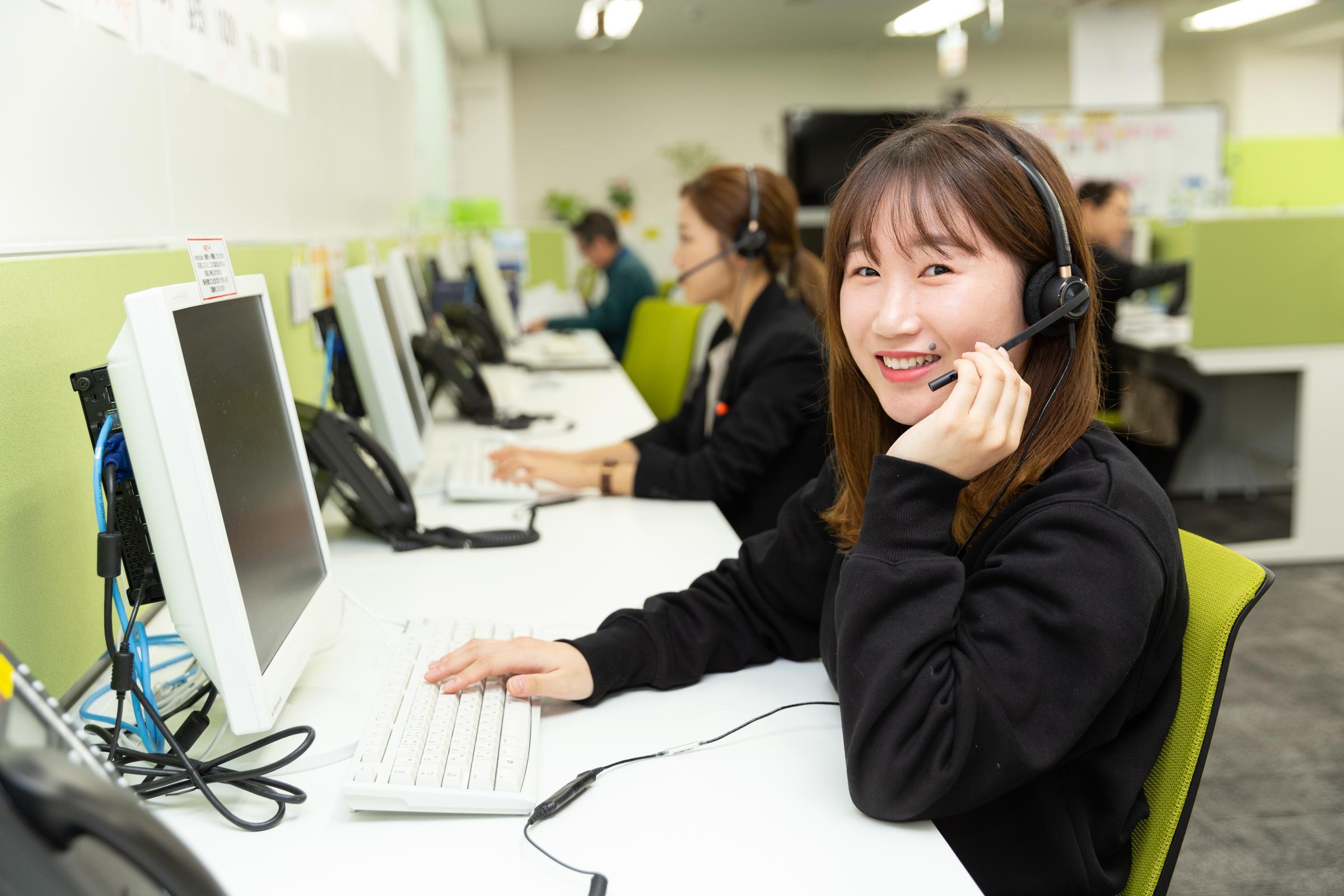 設備の点検に関する電話応対スタッフ