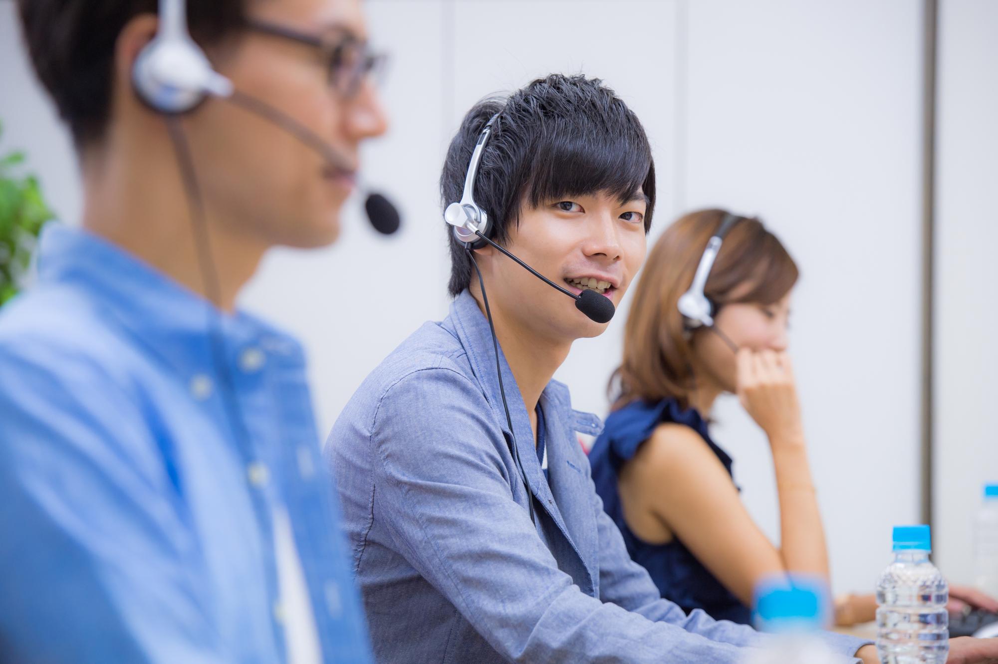 通信教育教材に関する問合せなどの電話応対業務
