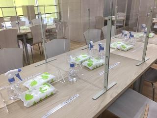 熊本センター内には、コロナ対策・充電機完備の休憩室あり